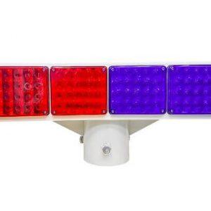 Đèn báo hiệu giao thông 2 mặt năng lượng mặt trời HG-BL341
