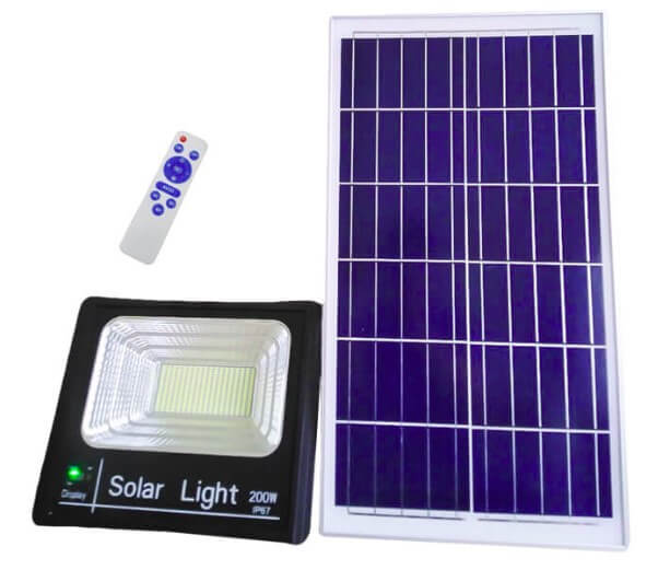 Đèn pha Solar công suất lớn HG-FL0201 200W