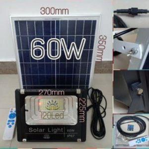 Đèn pha led năng lượng mặt trời 60w
